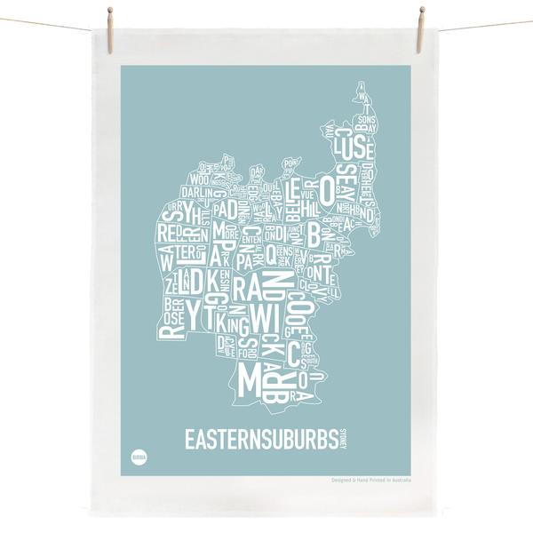 Local Map Tea Towels