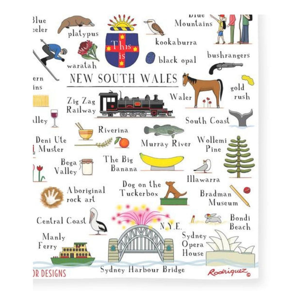 State of New South Wales Linen Tea Towel