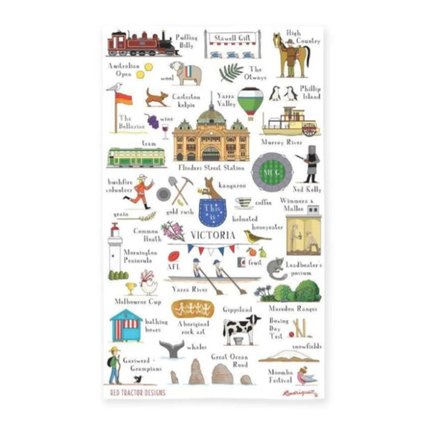 State of Victoria Tea Towel