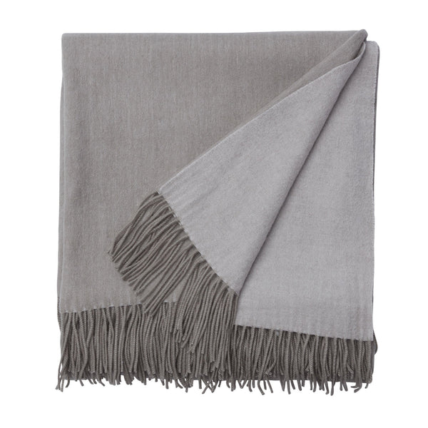 Luxury Cashmere and Woollen Throw with Tassels