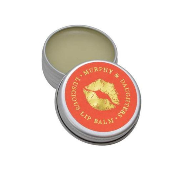 Murphy & Daughters pink grapefruit lip balm not only looks great but they are also a luscious way to show your lips some love! Made from a sweet blend of oils, butters and natural flavours, this buttery balm smells and tastes delicious and soothes chapped lips.