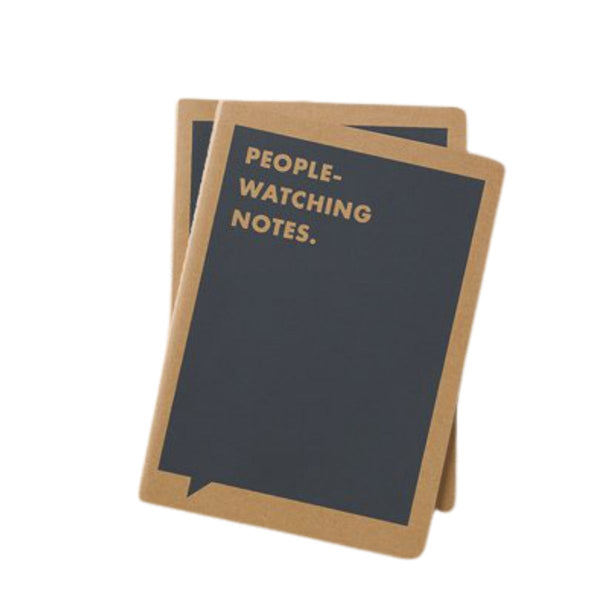 Need a little notebook to put a smile on your face? This one, called 'People Watching Notes' is a simple, lined notebook that is small enough to fit anywhere. This notebook features a fun joke that will add a little spark to any task, from grocery shopping to board meetings, and plenty of space for you to write some serious memos. And it might just put a smile on your face too!