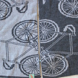 Superfine Grey Bicycle Scarf