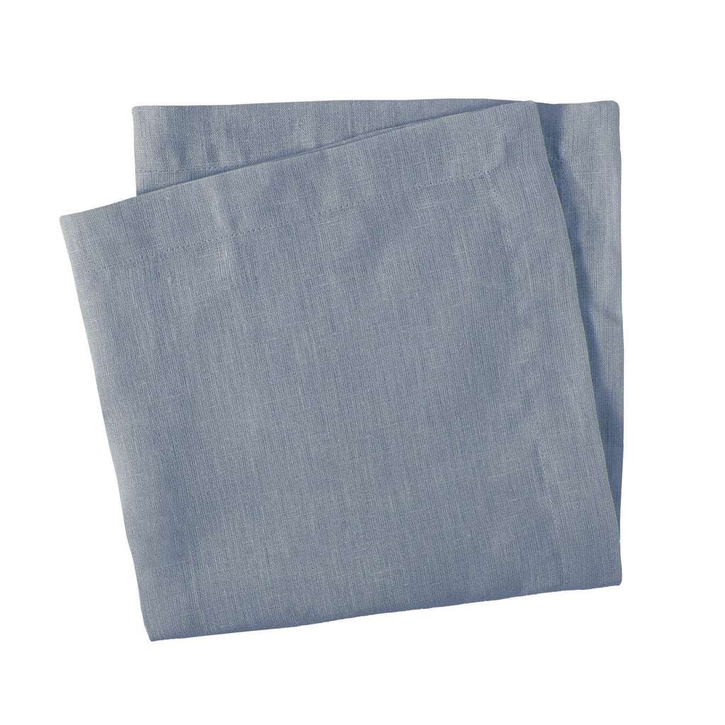 Set of Four Blue Linen Napkins