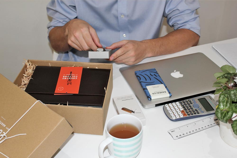 unboxing of corporate gift from country culture