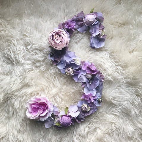 Lavender S nursery wall letter decor