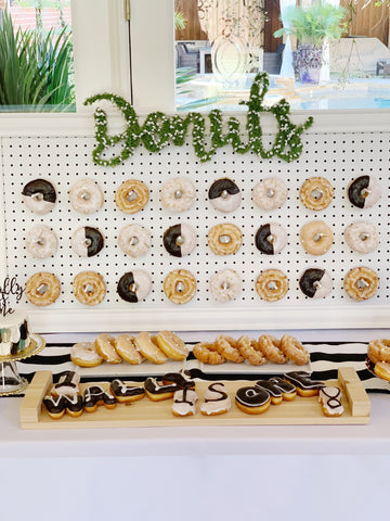 Donuts party sign
