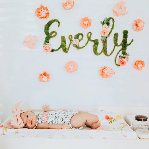 Everly nursery sign