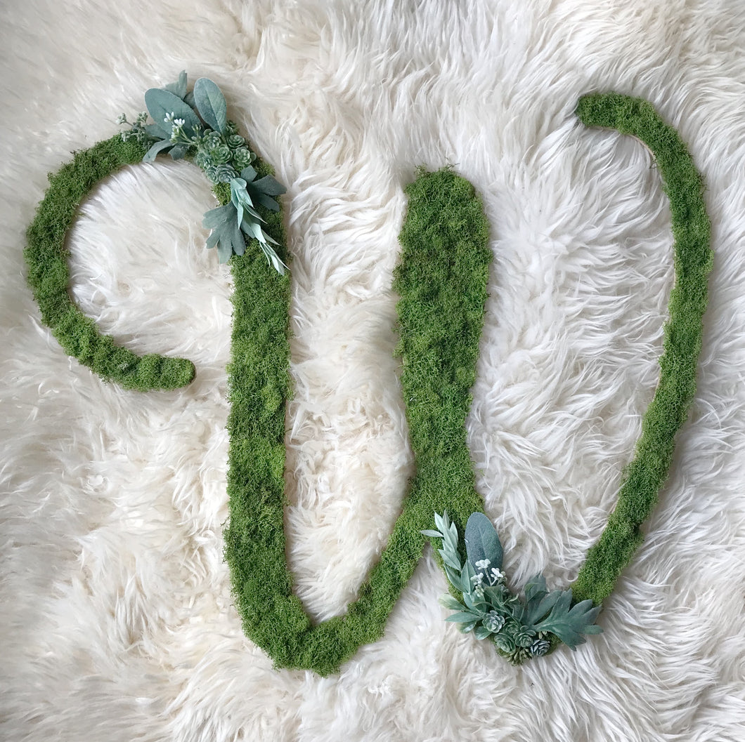 Whimsical Custom Letter - Greenery