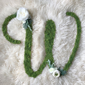 Whimsical Custom Letter - White Florals