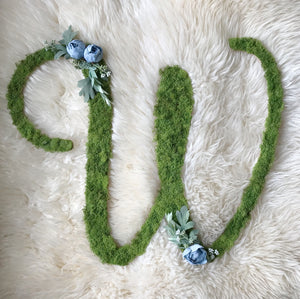 Whimsical Custom Letter - Blue Florals