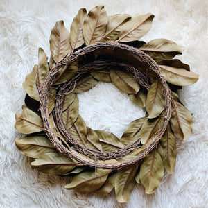 "24"" Custom Magnolia Wreath"