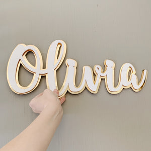 Stacked Custom Acrylic Name - Fancy Font