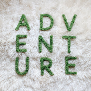 ADVENTURE Moss Wall Sign