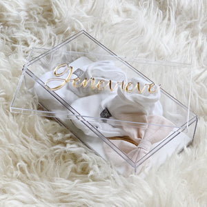 Custom Keepsake Box - Charming Font