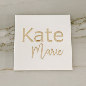 Custom Knockout Name Sign