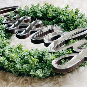"15"" Custom Sedum Wreath"