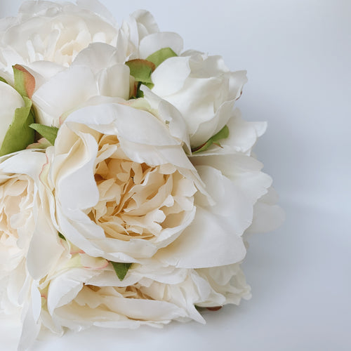 Alabaster Peony Bouquet - 9