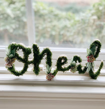 MINI Custom Moss Floral Name - Fancy Font