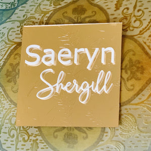 Custom Etched Botanical Name Sign