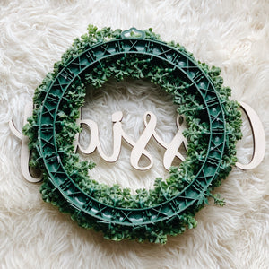 "15"" Custom Name Wreath - Fancy Font"