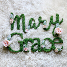 Custom Moss Floral Name Duo - Mixed Fonts