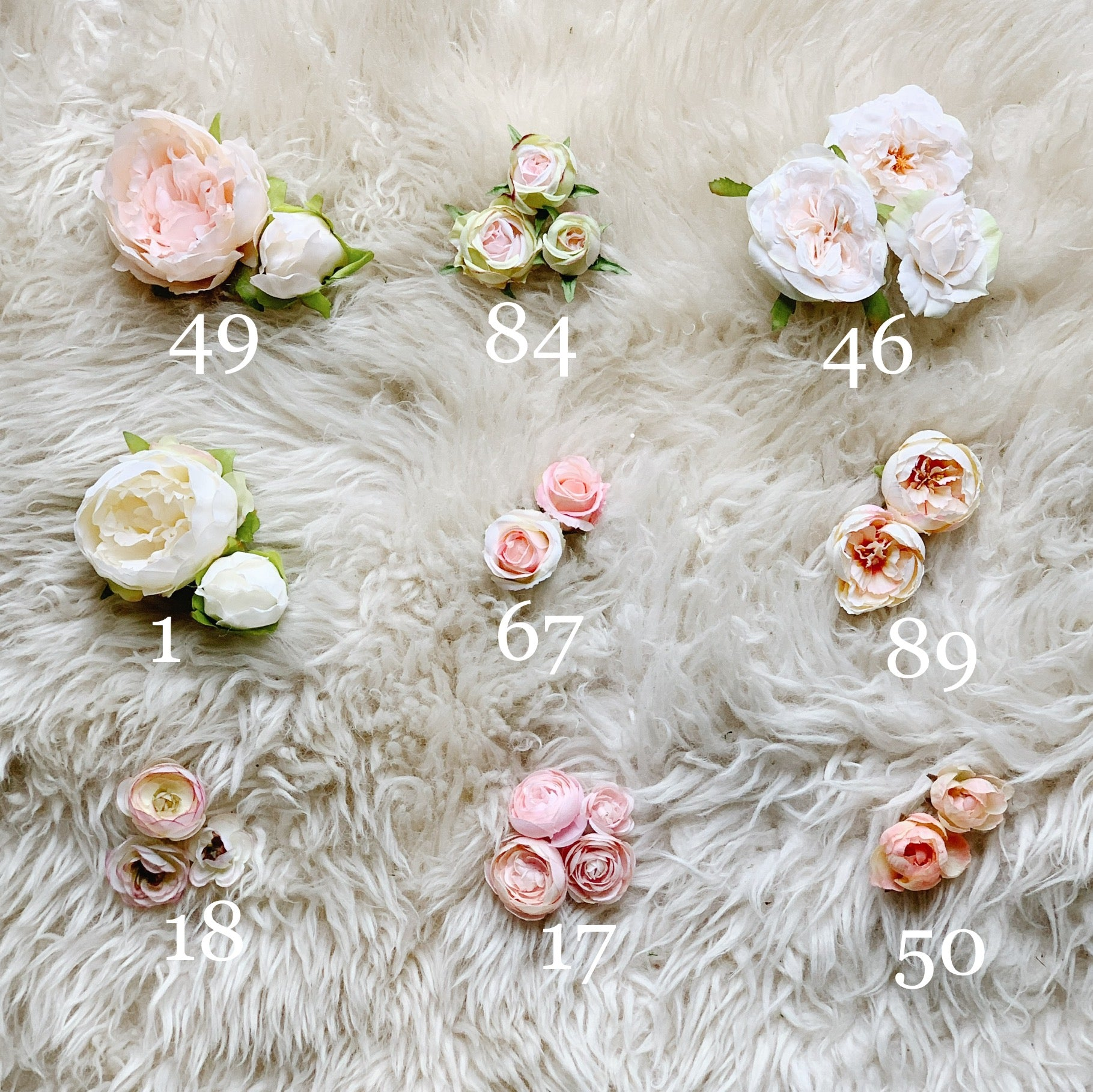 pink blush flower options