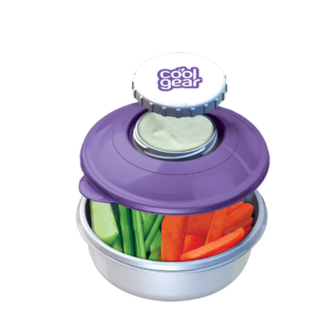 Purple Snack N Dip Food Container at Cool Gear Food Containers