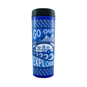 Cool Gear | Commuter 18 Oz Travel Mug in Dark Blue / Go Out And Explore