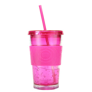 Pink 20 Oz Gel Chiller (With Band) at Cool Gear Tumblers