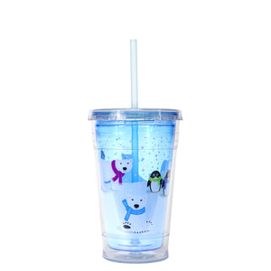 Bright Blue / Polar Bears 20 Oz Holiday Chiller at Cool Gear Winter Holiday