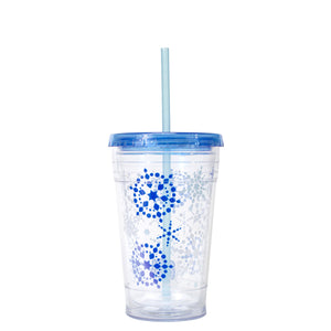 Bright Blue / Snowflakes 20 Oz Holiday Chiller at Cool Gear Winter Holiday