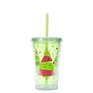 Forest Green / Trees 20 Oz Holiday Chiller at Cool Gear Winter Holiday
