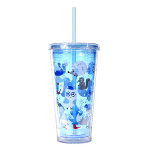 Bright Blue / Woodland Winter 24 Oz Holiday Chiller at Cool Gear Winter Holiday
