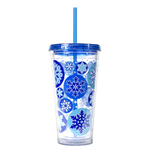 Royal Blue / Snowflakes 24 Oz Holiday Chiller at Cool Gear Winter Holiday