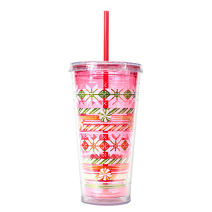 Red / Candy Stripes 24 Oz Holiday Chiller at Cool Gear Winter Holiday