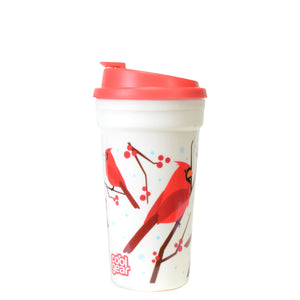 Red / Cardinals 15 Oz Holiday Coffee Mug at Cool Gear Winter Holiday