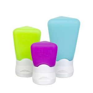 Blue, Green, Purple Travel Tubes (Assorted, 3-Pack) at Cool Gear Travel-Accessories