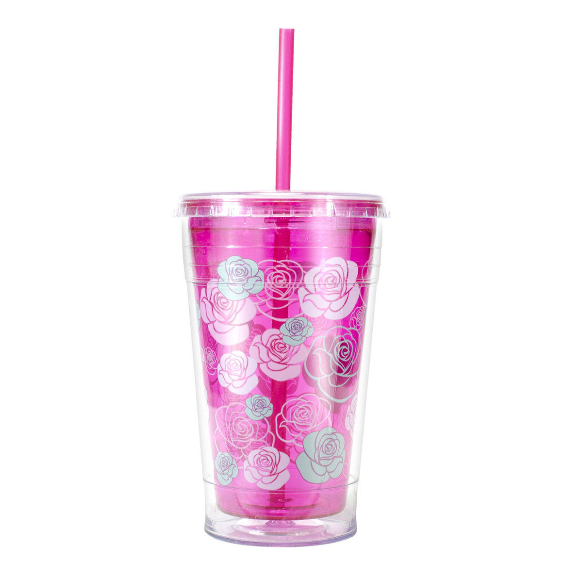 Pink / Roses 20 Oz Valentines Printed Chiller at Cool Gear Valentines