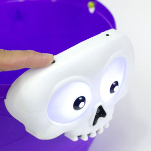Light Up Halloween Skull Candy Bucket at Cool Gear Halloween