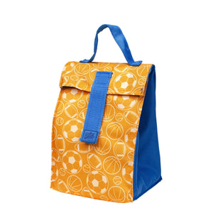 Blue / Orange Sports Kids Foldable Insulated Lunch Bag at Cool Gear Lunch Bags