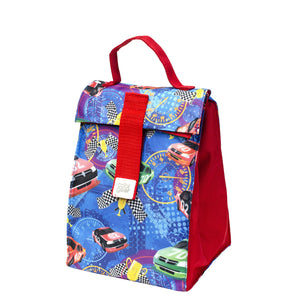 Red / Blue Cars Kids Foldable Insulated Lunch Bag at Cool Gear Lunch Bags