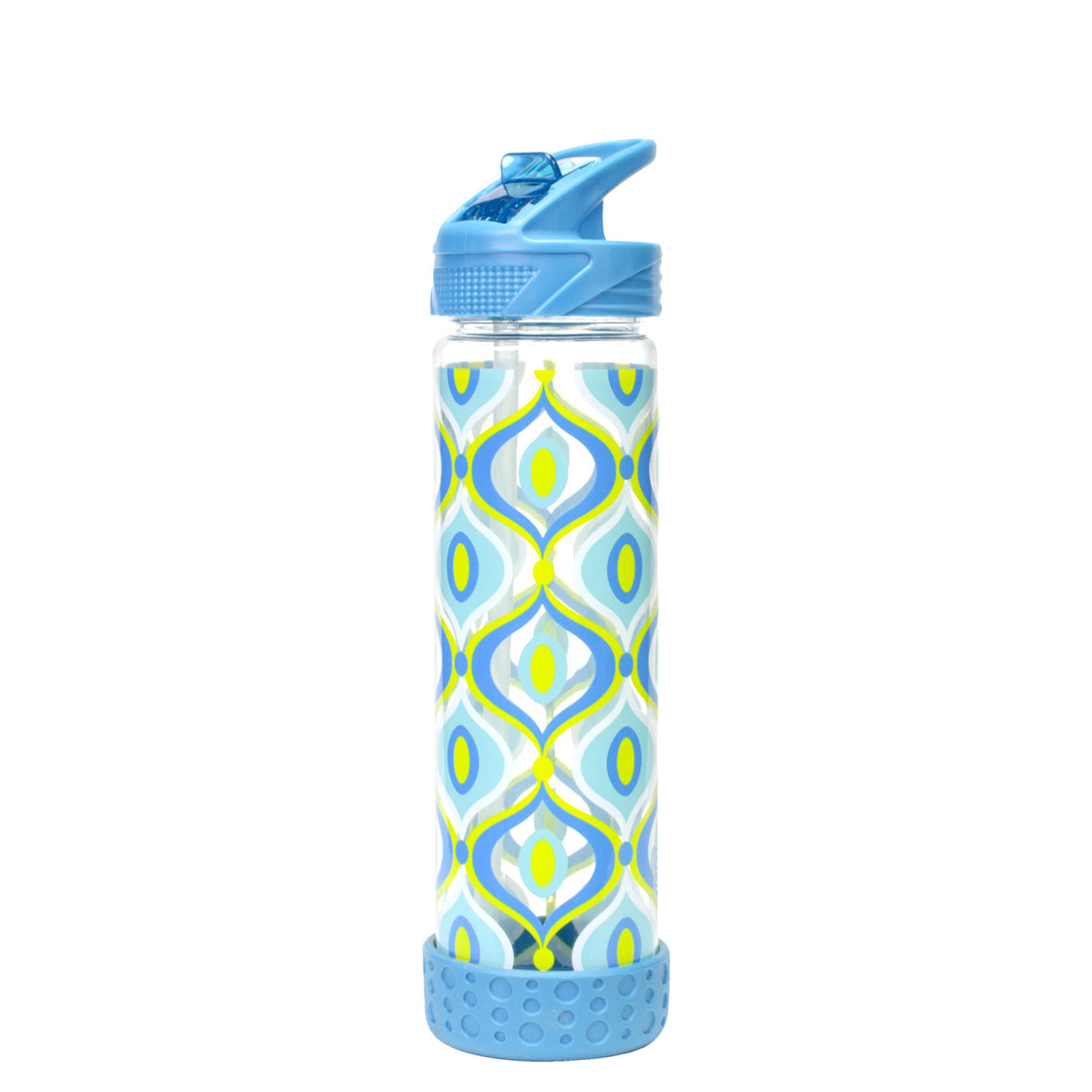 Blue / Mod Drops 22 Oz Printed Straight Wall Water Bottle at Cool Gear Water Bottles