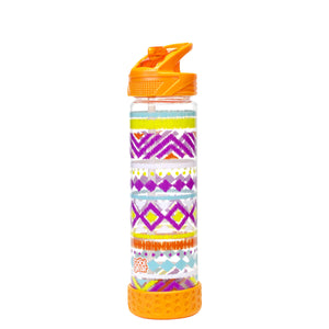 Orange / Tribal 22 Oz Printed Straight Wall Water Bottle at Cool Gear Water Bottles