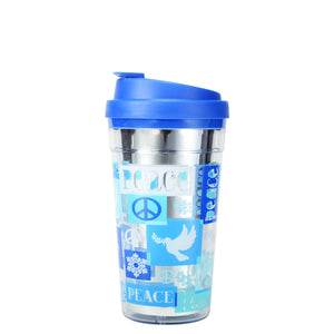 Dark Blue / Peace Season Reflections 15 Oz Holiday Coffee Mug at Cool Gear Winter Holiday