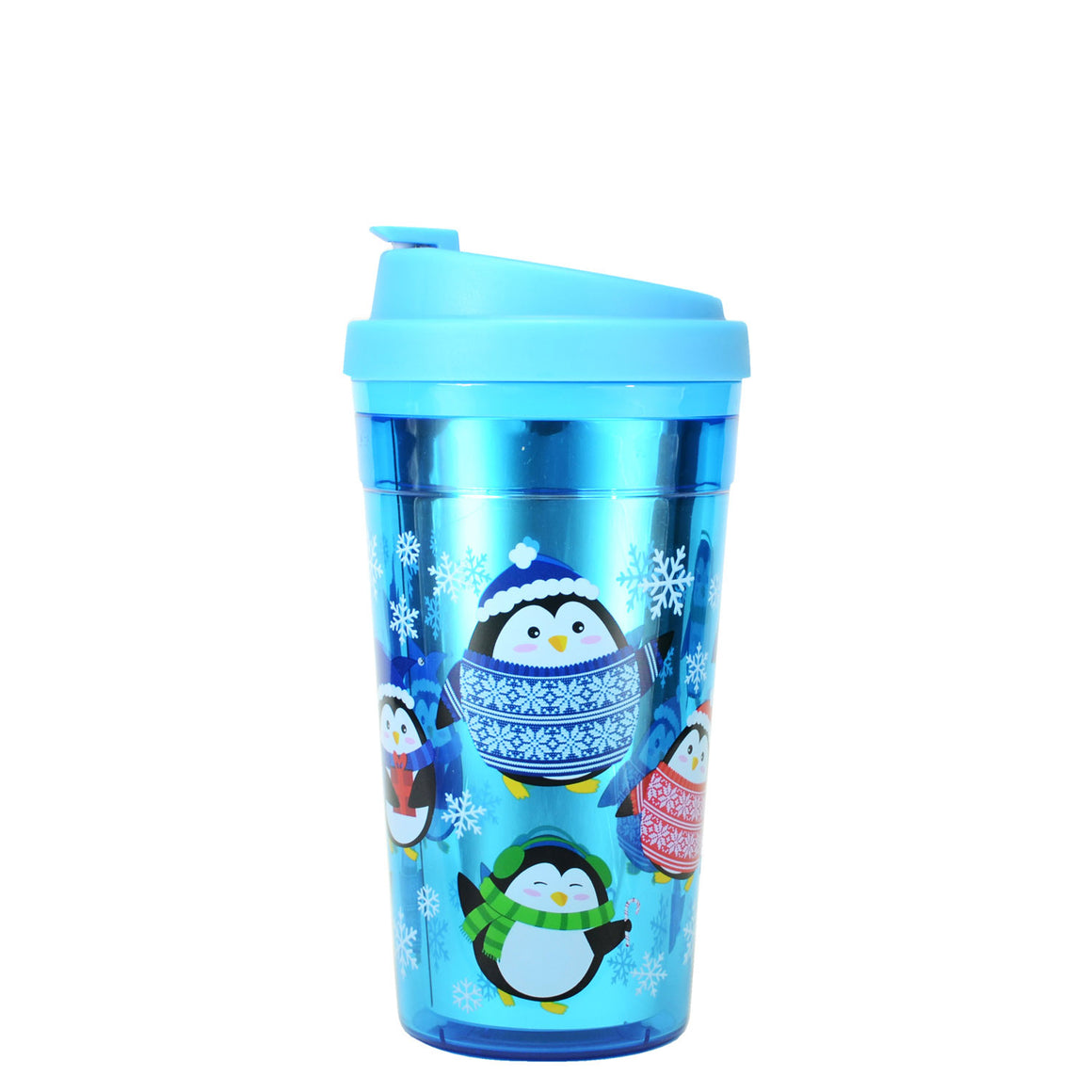 Bright Blue / Penguins Reflections 15 Oz Holiday Coffee Mug at Cool Gear Winter Holiday