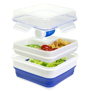 Blue Expandable Salad Kit at Cool Gear Food Containers