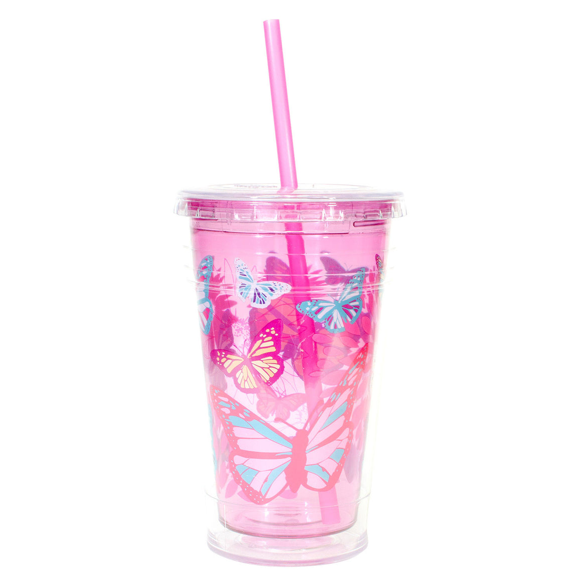 Cool Gear | 20 Oz Easter Printed Chiller in Pastel Pink / Butterflies