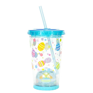Cool Gear | 21 Oz Easter Snowglobe Chiller in Pastel Blue / Easter Eggs