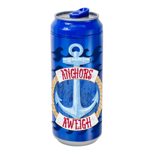 Dark Blue / Anchors Aweigh 16 Oz coolgearcan at Cool Gear Coolgearcans